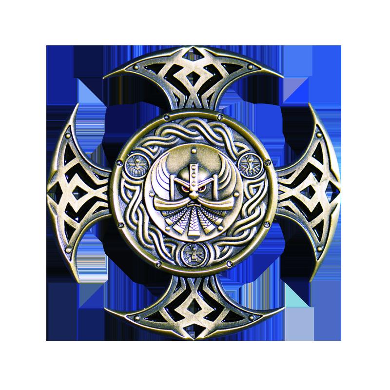 Celtic Cross Geocoin Antique Silver