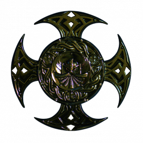Celtic Cross geocoin BLACK