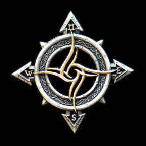 Celtic Compass Geocoin AS + GOLD