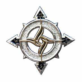 Celtic Compass Geocoin SS +...