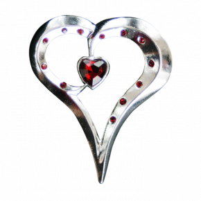 Romantic Heart Geocoin SS