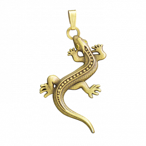 Lizard Geocoin Necklace AG