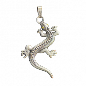 Lizard Geocoin Necklace AS