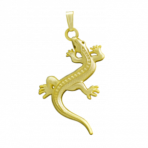 Lizard Geocoin Necklace SG