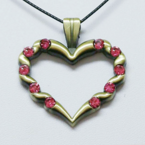 Stone Heart Geocoin AG + Pink