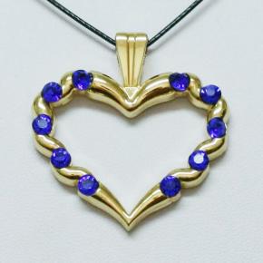 Stone Heart Geocoin SG + Blue