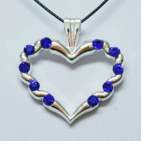 Stone Heart Geocoin SS + Blue