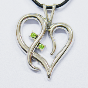 Romantic Heart X Geocoin SS + Peridot