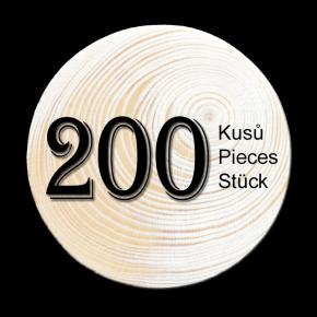 Spruce branch 200 pcs