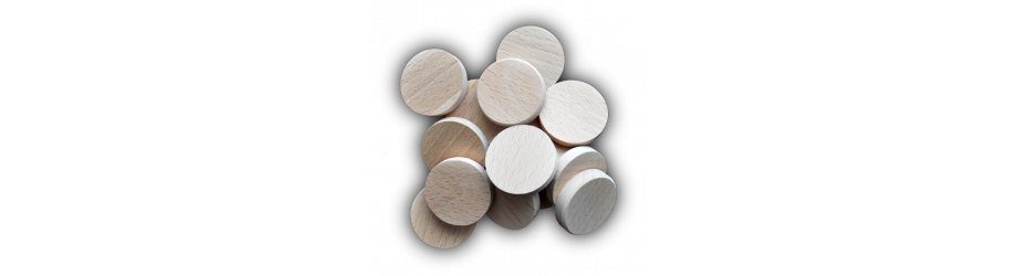 Inverse wooden coins